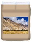 Drass Village Agriculture Kargil Ladakh Jammu And Kashmir India Duvet Cover