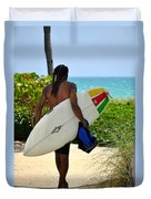 Dreadlocks Surfer Dude Duvet Cover