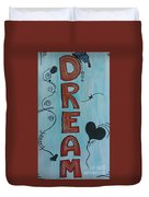 Dream Acrylic Watercolor Duvet Cover