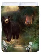 Dream Catcher - Spirit Of The Black Bear Duvet Cover