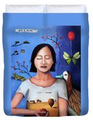 Dream Within A Dream 3 Duvet Cover by Leah Saulnier The Painting Maniac