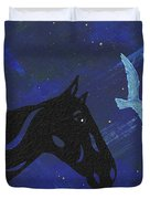 Dreaming Horse Duvet Cover by Manuel Sueess