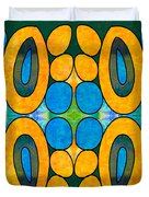 Dreaming In Circles Abstract Hard Candy Art By Omashte Duvet Cover