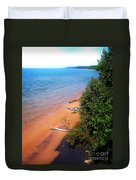 Dreaming Of Lake Michigan Duvet Cover