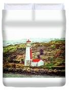 Dreaming Of The Georges Island Light In Halifax Duvet Cover
