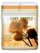 Dreams In Roses - Vintage - Verse Duvet Cover