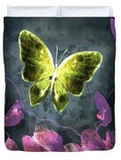 Dreams Of Butterflies Duvet Cover by Writermore Arts