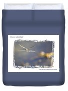 Dreams Take Flight Poster Or Card Duvet Cover