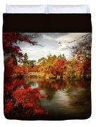 Dreamy Autumn Impressionism Duvet Cover