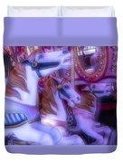Dreamy Carrousel  Horses Duvet Cover