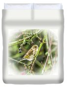 Dreamy Greenfinch. Duvet Cover