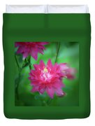 Dreamy Hot Pink Columbine Squared Duvet Cover