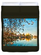 Dreamy Jefferson And Flowers Duvet Cover