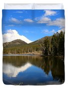 Dreamy Lake In The Rockies Duvet Cover