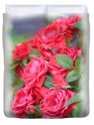 Dreamy Red Roses - Digital Art Duvet Cover