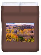 Dreamy Rocky Mountain Autumn View Duvet Cover