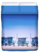 Dreamy Santa Monica Beach Duvet Cover