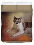 Dreamy Snowshoe Cat Duvet Cover