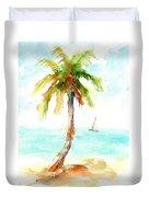 Dreamy Tropical Beach Palm Duvet Cover