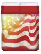 Dreamy Usa Flag 1 Duvet Cover
