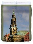Dresden Kreuzkirche - Church Of The Holy Cross Duvet Cover