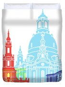 Dresden Skyline Pop Duvet Cover