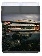Dresden Waldschloesschenbridge Sunset Duvet Cover