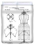 Dress Form Patent 1891  Duvet Cover