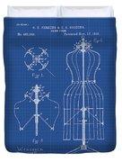 Dress Form Patent 1891 Blueprint Duvet Cover