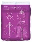 Dress Form Patent 1891 Pink Duvet Cover