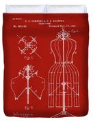 Dress Form Patent 1891 Red Duvet Cover