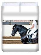 Dressage Horse Show Duvet Cover