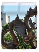 Drexel University Dragon - Philadelphia Pa Duvet Cover
