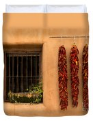 Dried Chilis And Window Duvet Cover
