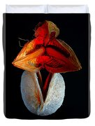 Composition With Dried Flowers Red Hat. Duvet Cover