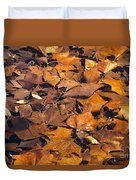 Dried Leaves Duvet Cover