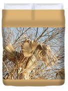 Dried Palm Fronds In The Wind Duvet Cover