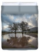 Dried Tree Reflected Duvet Cover