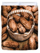 Dried Whole Peanuts In Their Seedpods Duvet Cover