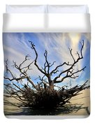 Driftwood And Roots Hunting Island Sc Duvet Cover by Lisa Wooten