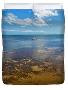 Driftwood At Low Tide In Key West Duvet Cover