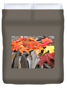 Driftwood Autumn Leaves Art Prints Baslee Troutman Duvet Cover