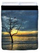 Driftwood Beach Sunrise Jekyll Island Georgia Duvet Cover
