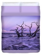 Driftwood In The Waves Duvet Cover