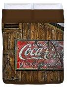 Drink Coca Cola Sign Duvet Cover