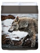 Drinking Wolf Duvet Cover