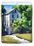 Drinkwater And Schriver Mill Cedar Point Kansas  Duvet Cover