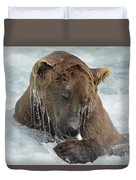 Dripping Grizzly Bear Duvet Cover
