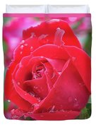 Dripping In Beauty - Double Knock Out Rose Duvet Cover