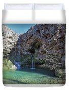 Dripping Springs Falls Duvet Cover